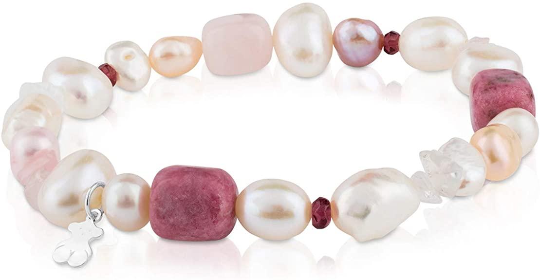 pulsera de perlas marca tous