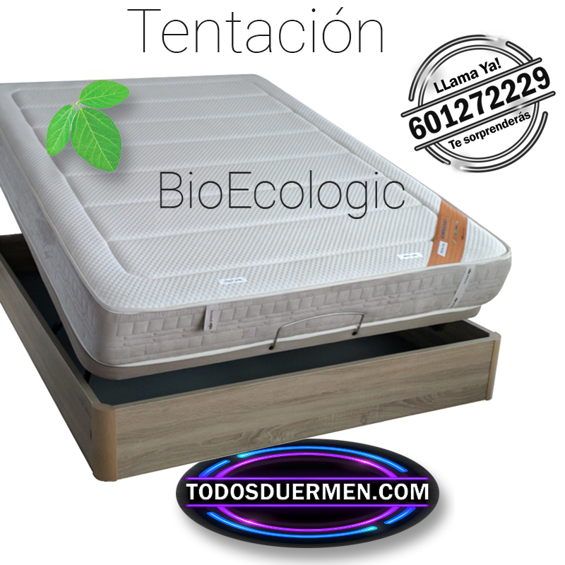 Colchón Viscoelástico Bio Ecologic Tentación Doble Firmeza Ecológico TodosDuermen.Com Todas Las Medidas Con Envío Gratis