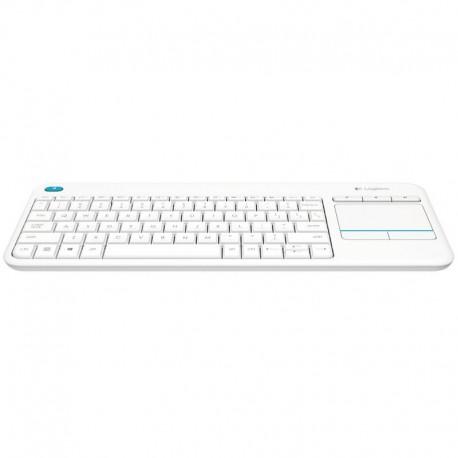 Logitech Wireless Touch Keyboard K400 Plus Blanco